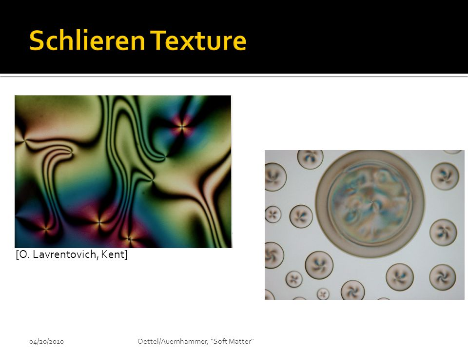 Schlieren Texture [O. Lavrentovich, Kent] 04/20/2010